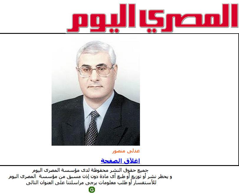 Судья Адли Мансур принял присягу на пост временного президента Египта