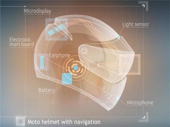 Россияне создают мотоциклетный шлем с интерактивной картой