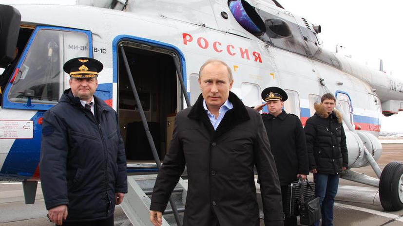 Владимир Путин пересядет на вертолёт
