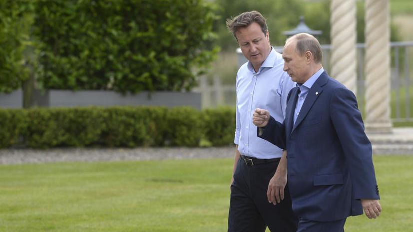 СМИ: Кэмерон просит Владимира Путина помочь ему «совладать» с Шотландией