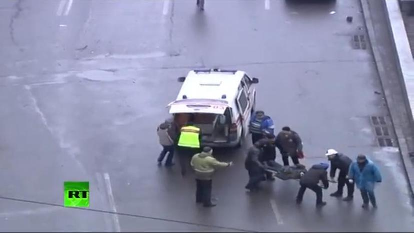 Вооружённое столкновение в Киеве - оперативные кадры с места события