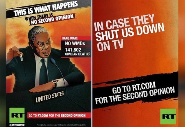 Рекламная кампания RT покажет жителям западных стран важность альтернативной точки зрения