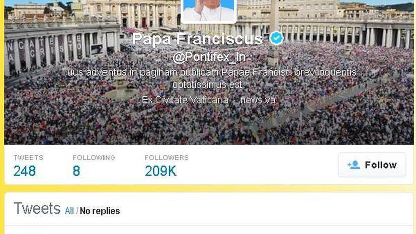 Veni vidi vici: Twitter-аккаунт Папы Римского на латыни завоёвывает популярность