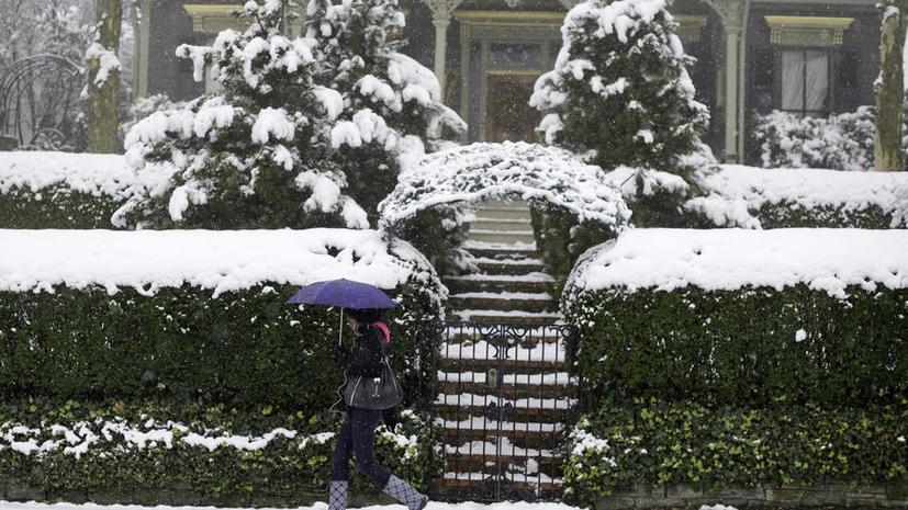 Снежный шторм сорвал американцам День благодарения