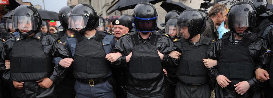 Российская полиция будет разгонять беспорядки «томатами»