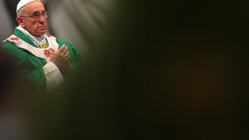 Папа Римский Франциск обратился к Владимиру Путину с письмом о мире в Сирии