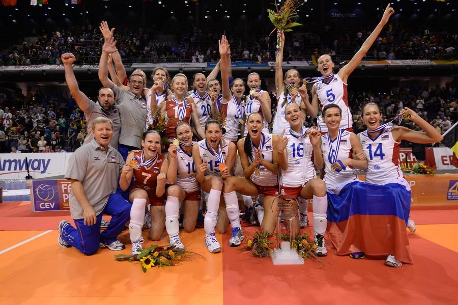 Женская волейбольная сборная России одержала победу на чемпионате Европы