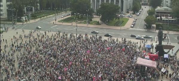 В Донецке прошёл митинг в поддержку русскоязычного населения