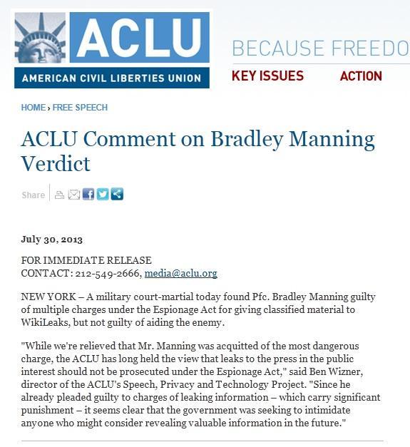 Американские правозащитники: правительство США хочет запугать каждого, кто может предать огласке ценную информацию