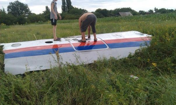 В сети появились первые фото упавшего на Украине малайзийского Boeing