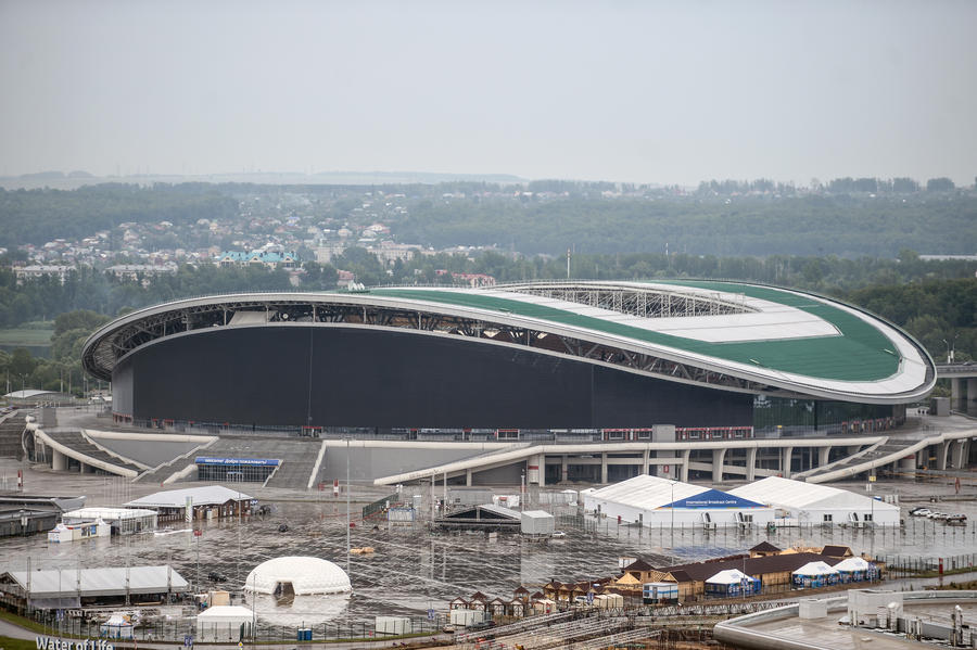 Представители ФИФА провели инспекцию стадиона в Казани, где пройдёт ЧМ-2018
