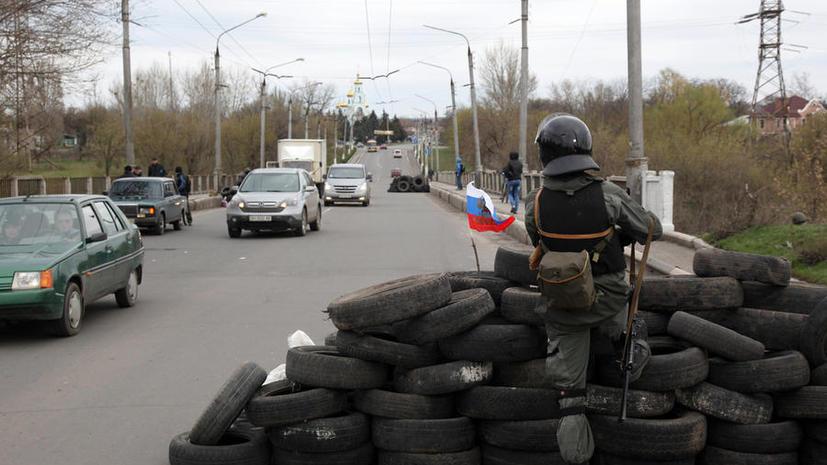 В Славянске сторонники федерализации Украины провели ночь в ожидании штурма