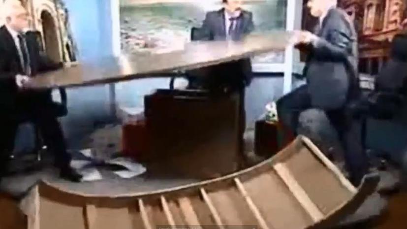 Иорданские журналисты подрались в прямом эфире