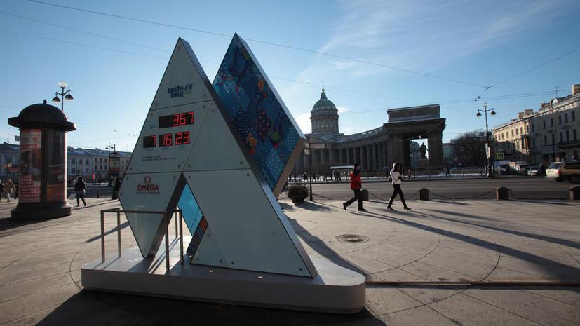 Компания Omega починила часы, отсчитывающие время до Олимпиады в Сочи