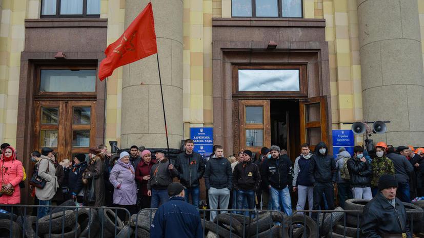 МВД: Протестующие, задержанные в Харькове, являются жителями города и области
