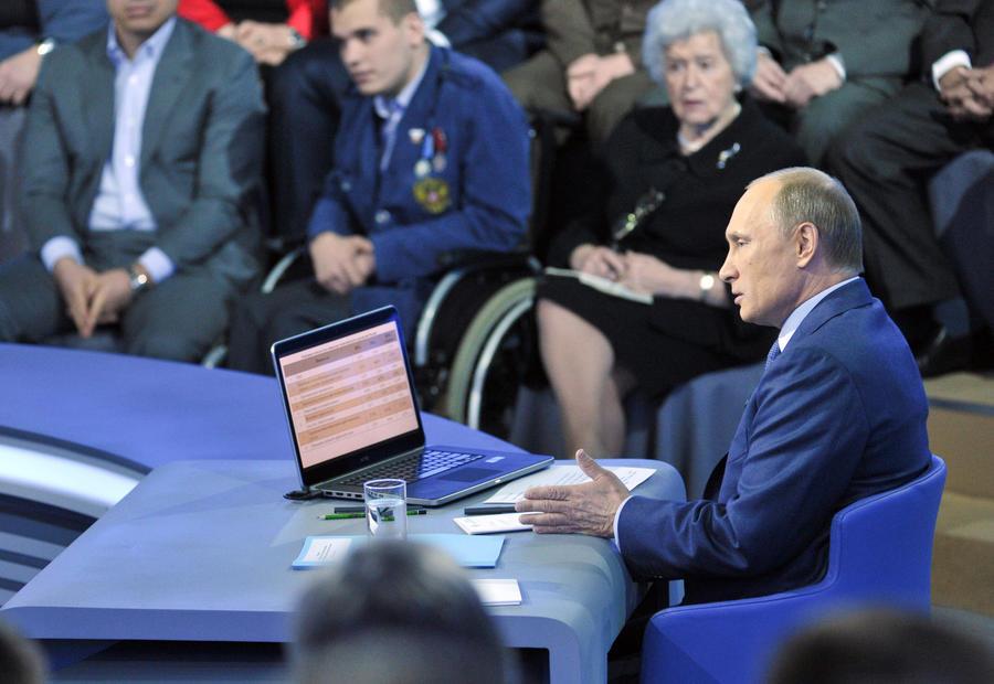 Иностранные корреспонденты о «прямой линии» Путина: «Я мучаюсь от голода и недостатка никотина»