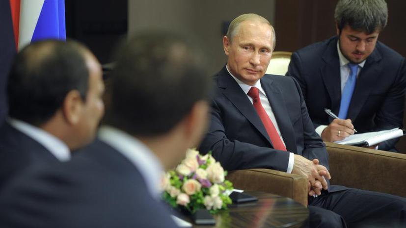 Владимир Путин: Между ТС и Египтом может быть создана зона свободной торговли