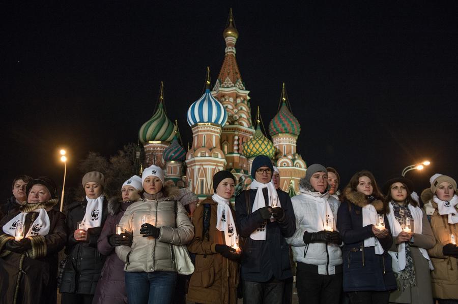 «Час Земли»: экологическая акция в РФ началась с минуты молчания в память о жертвах авиакатастрофы