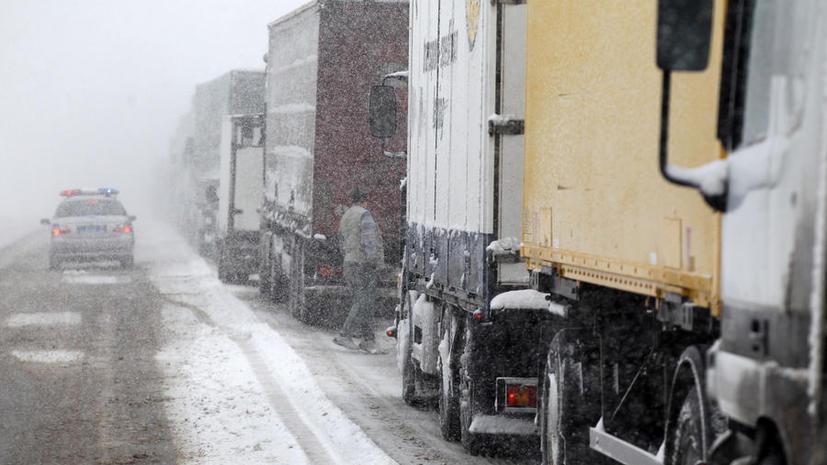 Подмосковные дороги могут оказаться закрыты для грузовиков днём