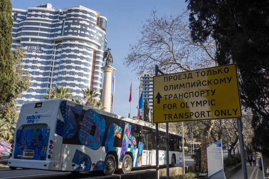 Олимпийские автобусы отправятся из Сочи в Крым