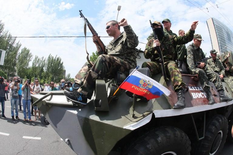 В Луганске солдаты одной из воинских частей  сдались ополченцам