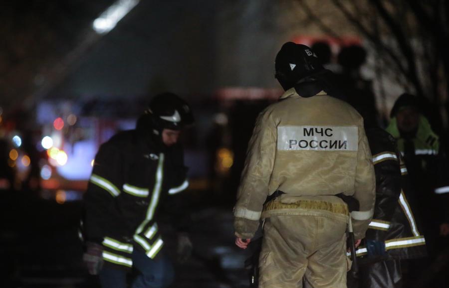 В Москве на Тушинском машзаводе произошёл крупный пожар