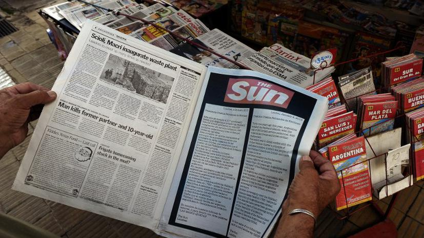 Журналисты разожгли новую Фолклендскую войну на страницах газет