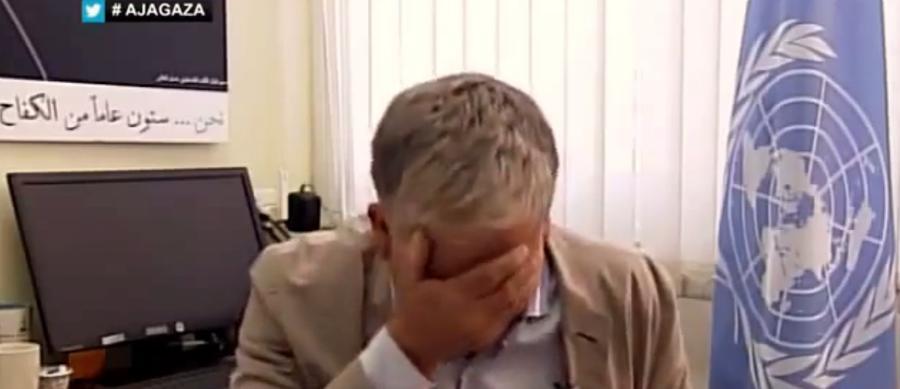 Чиновник ООН разрыдался, говоря о палестинских детях