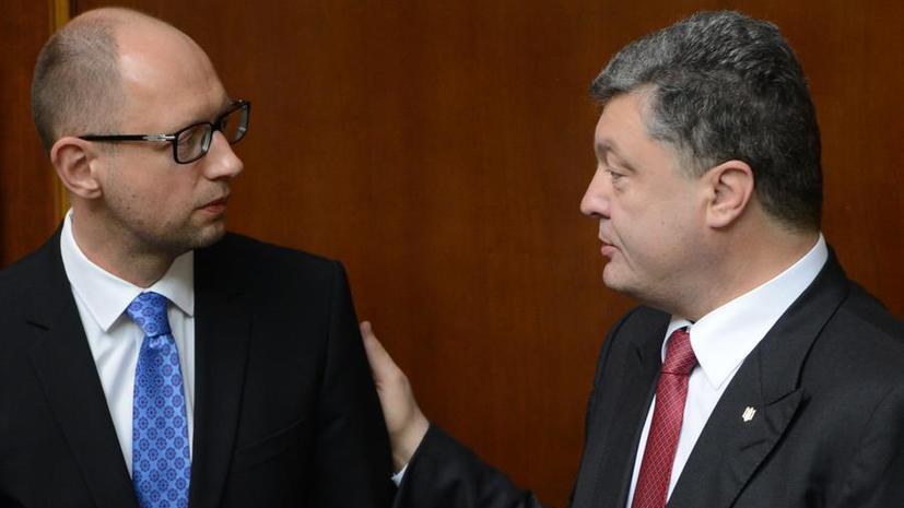 Блок Петра Порошенко незначительно отстаёт от партии Арсения Яценюка по итогам подсчёта 80% голосов