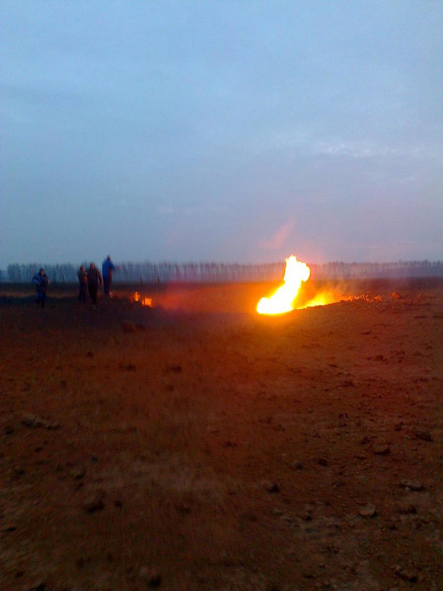 В Рязанской области произошла авария на магистральном газопроводе