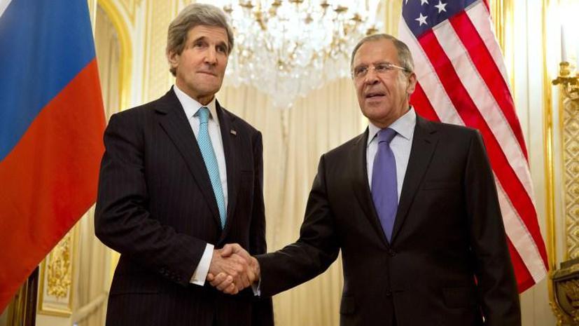 Сергей Лавров и Джон Керри настроены на дипломатическое решение ситуации на Украине