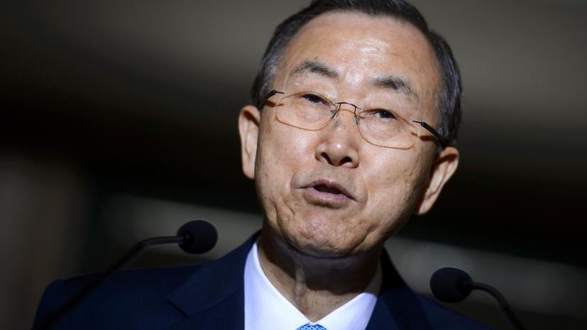 Пан Ги Мун выразил озабоченность участием египетской армии в политическом процессе