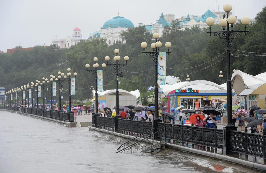 Уровень Амура в Хабаровске превысил отметку в 6,5 метра