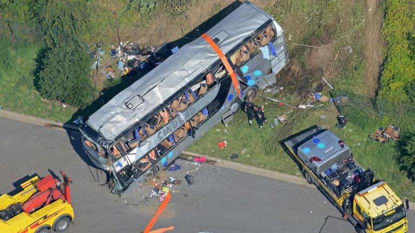 На востоке Германии украинский автобус с детьми столкнулся с польским, погибли 9 человек