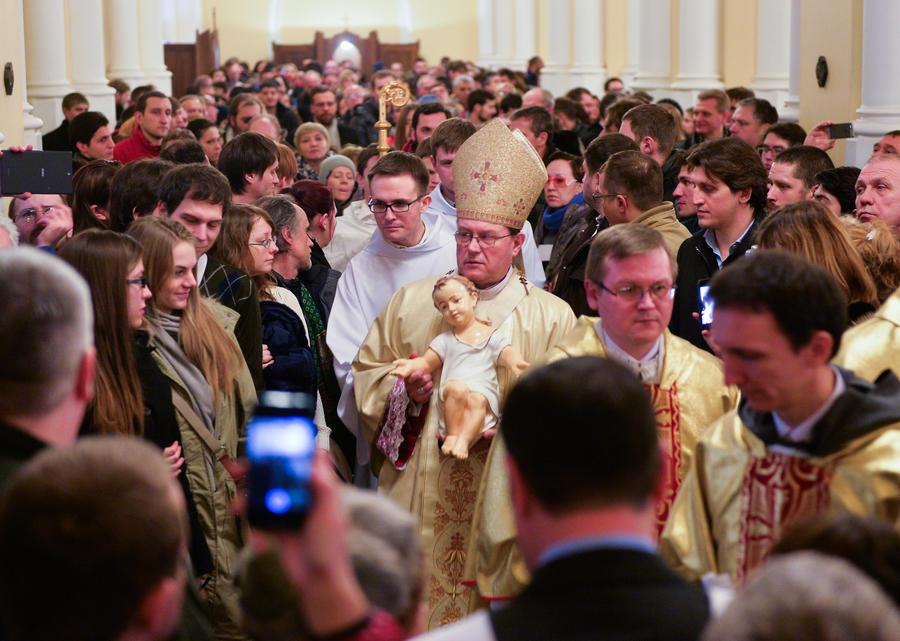Католики Москвы встретили Рождество