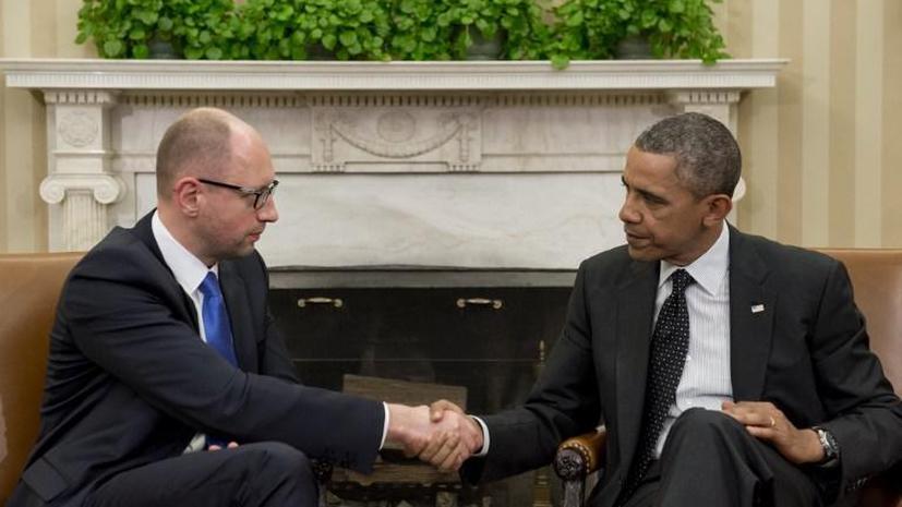 МИД РФ: Российских журналистов не пустили на пресс-конференцию Обамы и Яценюка, чтобы не прозвучали неудобные вопросы