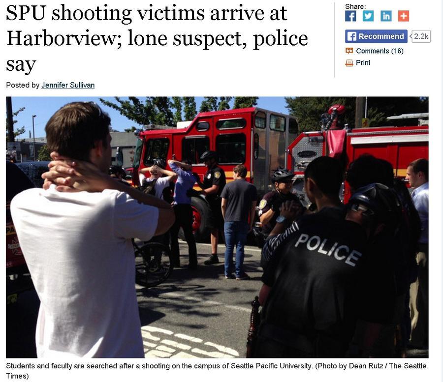 Один человек погиб в результате стрельбы в студенческом городке американского Сиэттла