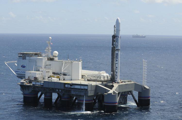 Спутник Eutelsat 3В вышел в космос с морской платформы