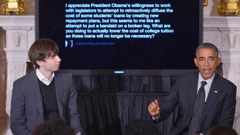Президент США Барак Обама впервые выступил перед пользователями сети микроблогов Tumblr