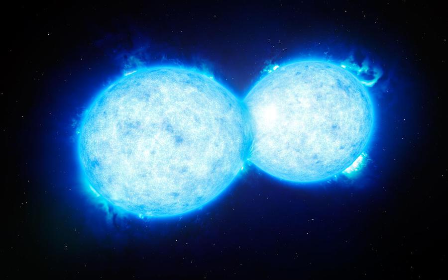 Смертельный поцелуй: астрономы обнаружили крупнейшую двойную звёздную систему
