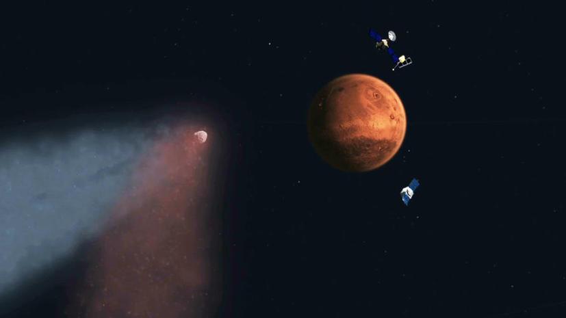 Два облака на Марсе поставили астрономов в тупик