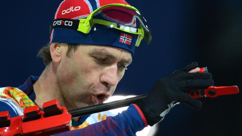 Норвежский биатлонист Уле-Эйнар Бьорндален потерял винтовку, с которой дважды завоевал золото Олимпиады в Сочи