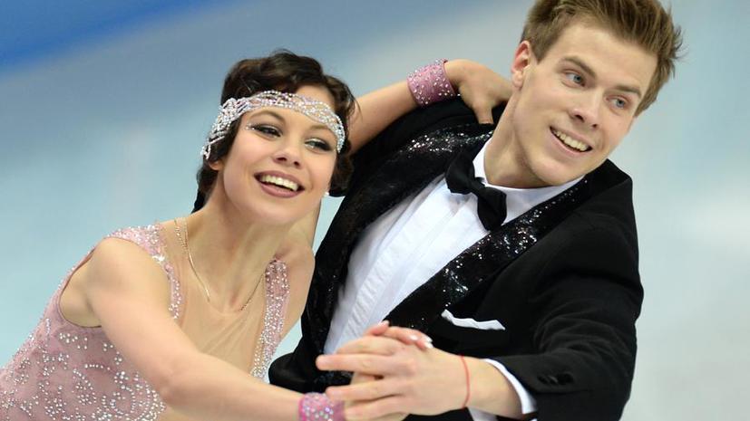 Российский дуэт фигуристов Елена Ильиных – Никита Кацалапов показал третий результат в коротком танце