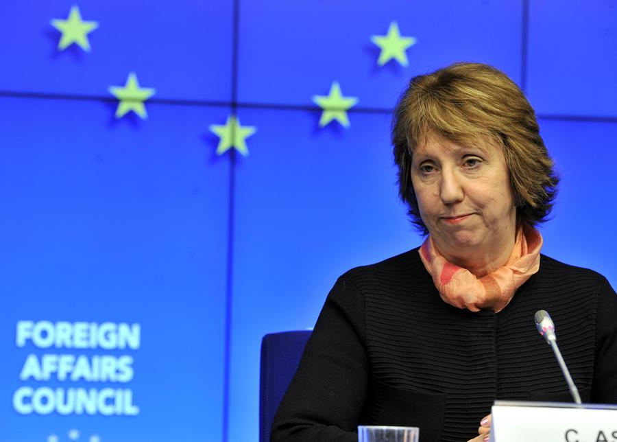 Пресс-секретарь Кэтрин Эштон: ЕС выступает за расследование сообщений об убийствах людей снайперами в Киеве