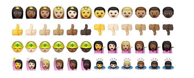 Белые, смуглые, чернокожие: Компания Apple выпустит набор политкорректных смайликов