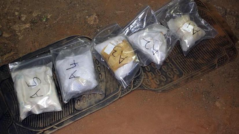 В Подмосковье задержан грузовик с центнером кокаина, спрятанном в грузе бананов
