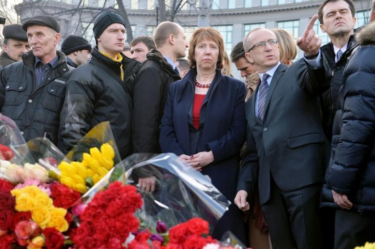 Кэтрин Эштон сегодня проведёт пресс-конференцию по итогам двухдневного визита в Киев