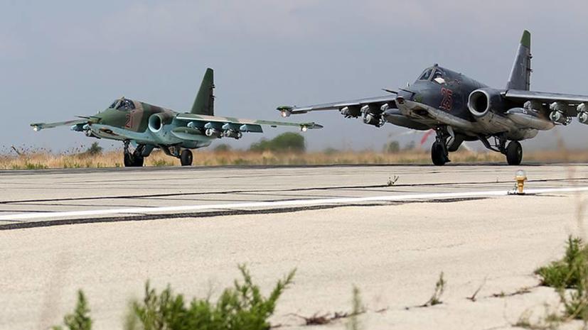 Минобороны РФ опубликовало фотографии боевых вылетов российских ВКС с авиабазы в Сирии