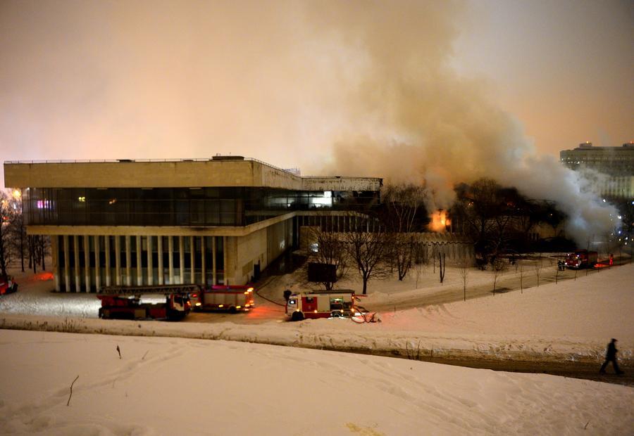 Президент РАН: Пожар в московской библиотеке ИНИОН «напоминает Чернобыль»