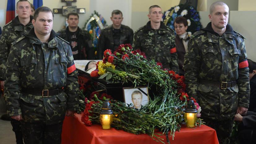 В Симферополе прощаются с погибшими в результате снайперской стрельбы 18 марта